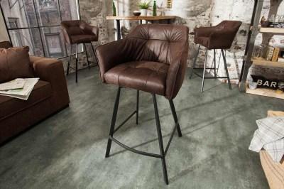Designová barová židle Giuliana, antik hnědá