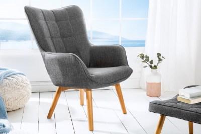 Designové křeslo Sweden, šedé