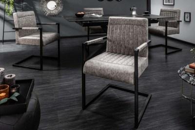 Jídelní židle Maddison vintage šedá