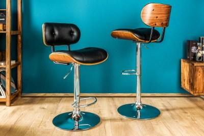 Designová barová židle Kadence, černý ořech