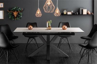 Designový jídelní stůl Zariah, 180-225 cm, betonový vzhled