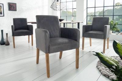 Designová jídelní židle Clemente, šedá