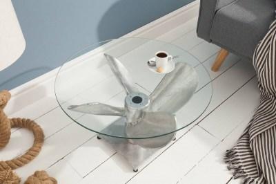 Designový konferenční stůl Propeller, 60 cm, stříbrný