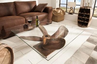 Designový konferenční stůl Propeller, 85 cm, antik měděný