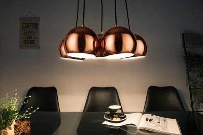 Designová závěsná lampa Briella, zlato-růžová