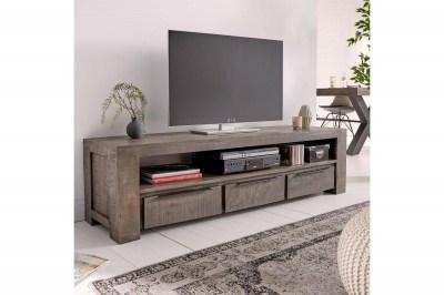 Designový TV stolek Thunder 170 cm, šedé mango