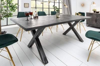 Designový jídelní stůl Allen Home 160 cm, šedé mango