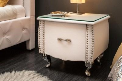 Noční stolek Spectacular, 45 cm, bílý