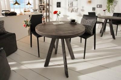 Kulatý jídelní stůl Thunder, 80 cm, šedé mango