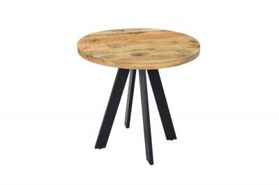 Kulatý jídelní stůl Thunder, 80 cm, mango