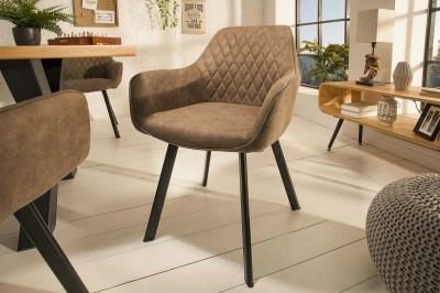 Designová židle Francesca, šedohnědá taupe
