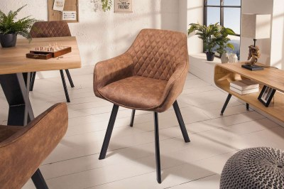 Designová stolička Francesca, světlehnědá