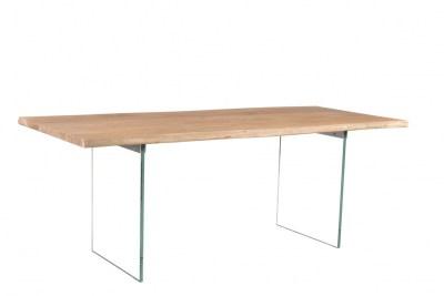 Designový jídelní stůl Massive, 200 cm, akácie / sklo