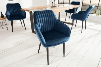 Designová židle Esmeralda, královská modrá