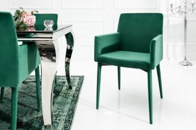 Designová židle s područkami Neapol, zelená