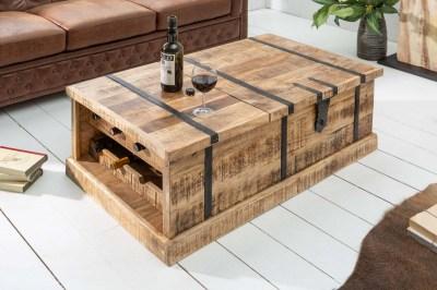 Luxusní konferenční stolek Winebar, 100 cm, mango