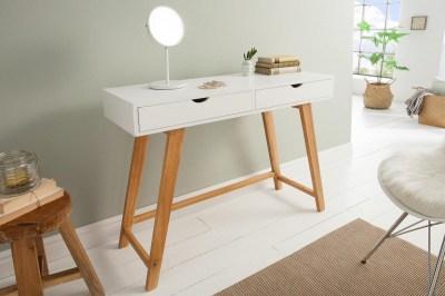 Designová konzola Sweden, 100 cm, bílá