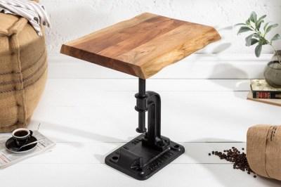 Designový odkládací stolek Unity, 43 cm, akácie