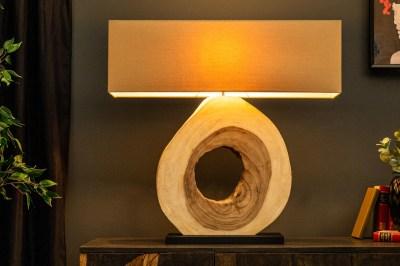 Designová stolní lampa Deandre, 92 cm ořech