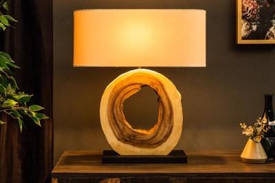 Designová stolní lampa Deandre, 61 cm ořech