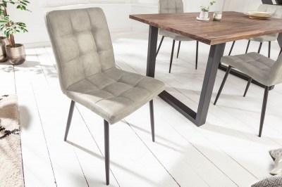 Designová židle Modern světle šedá