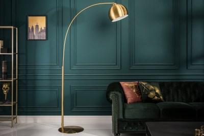Stylová stojanová lampa Arch 205 cm zlatá