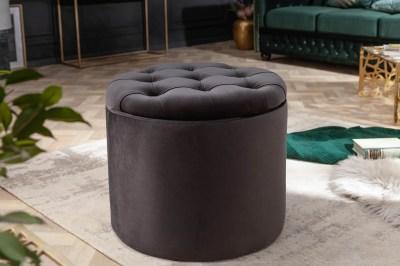 Designová taburetka Rococo 50 cm černá