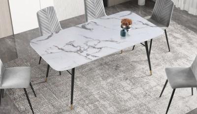 Jídelní stůl Laney 180 cm mramor bílý