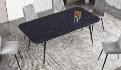 Jídelní stůl Laney 180 cm mramor černý