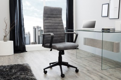 Kancelářská židle Roma Vintage šedá 125cm