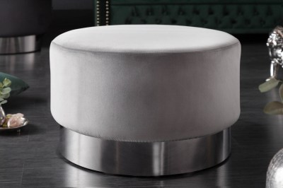 Designová taburetka Rococo 55 cm šedá