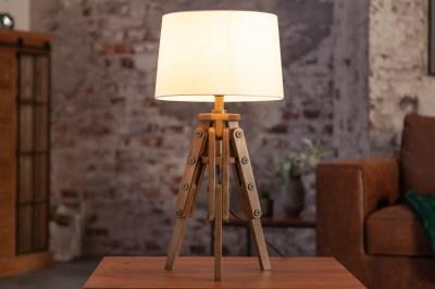 Designová stolní lampa Dawson 59 cm bílá