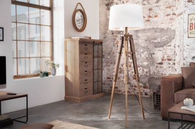 Designová stojanová lampa Dawson, 155 cm, bílá