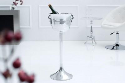 Designový chladič šampaňského Champagne 75 cm / stříbrná