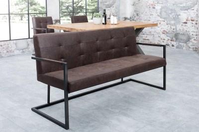 Designová lavice Ralph / vintage hnědá