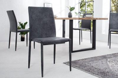 Designová stolička Martino / tmavě šedá - antik