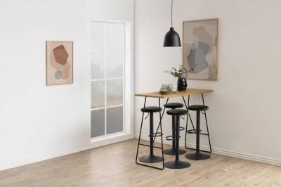 Moderní barová židle Nenna černá-lesní zelená