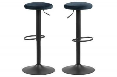 Moderní barová židle Nenna černá-navy modrá