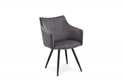 Moderní jídelní židle Aelfric, šedá