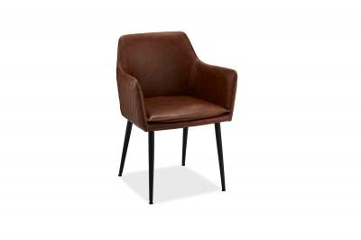 Moderní židle Abaddon, světlehnědá