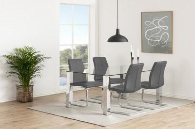 Moderná stolička Alcwin, sivá