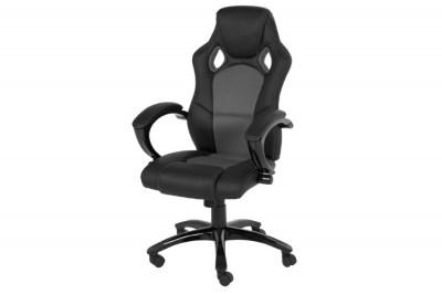 Designová kancelářská židle Nardos šedá-černá