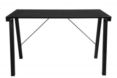 Designový psací stůl Narges 125 cm černý skleněný