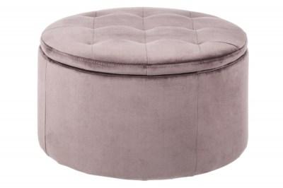 Designová taburetka Nasima světle růžová