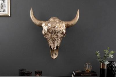 Nástěnná dekorace Randal 56 cm zlatá mozaika