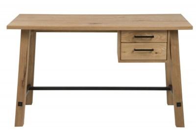 Designový psací stůl Nayana 130 cm broušený divoký dub