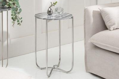 Odkládací stolek Tristen II 38 cm mramor šedý