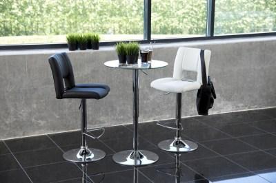 Kulatý barový stůl 60 cm Nicola sklo