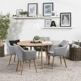 Okrúhly jedálenský stôl Naiara 120 cm dub