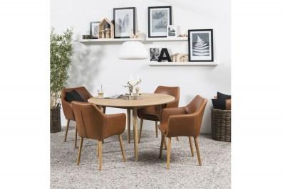 Kulatý jídelní stůl Naiara 120 cm dub